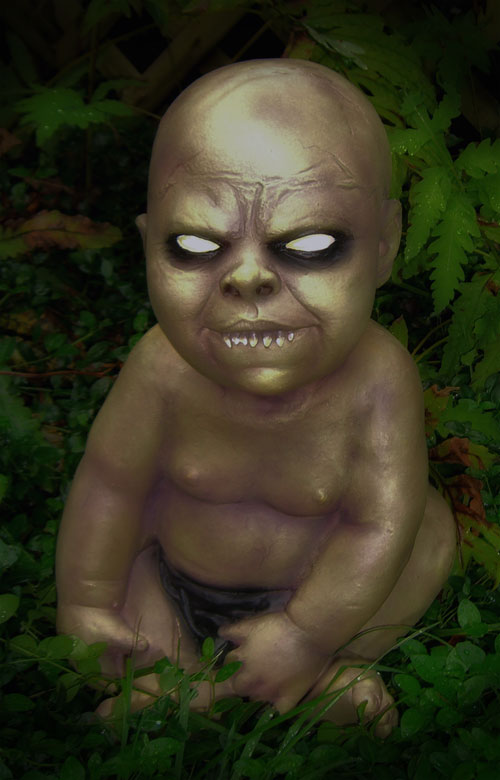 the latex prop is from spirit halloween i had a 20 off coupon and could not pass on the deal a zombie baby will fit right into our theme